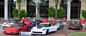 Photo of Corvette Club in front of France Tower
