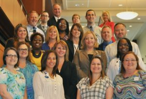 Photo of Eighteen Halifax Health Employees Completing Leadership Academy