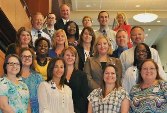 Photo of Eighteen Halifax Health Employees Completing Leadership Academy
