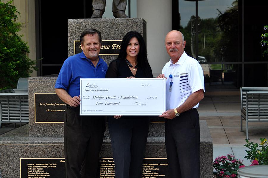 Spirit of the Automobile Organizers Make Donation to Halifax Health – Foundation