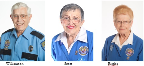 L. David Williamson, Lillian Scott, and Barb Rieder named Auxilians of the month for 2016,