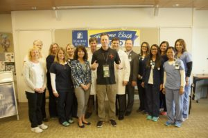 Memo Gidley and Halifax Health Team Members
