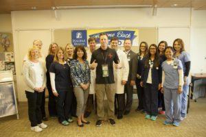 Memo Gidley and Halifax Health Team Members