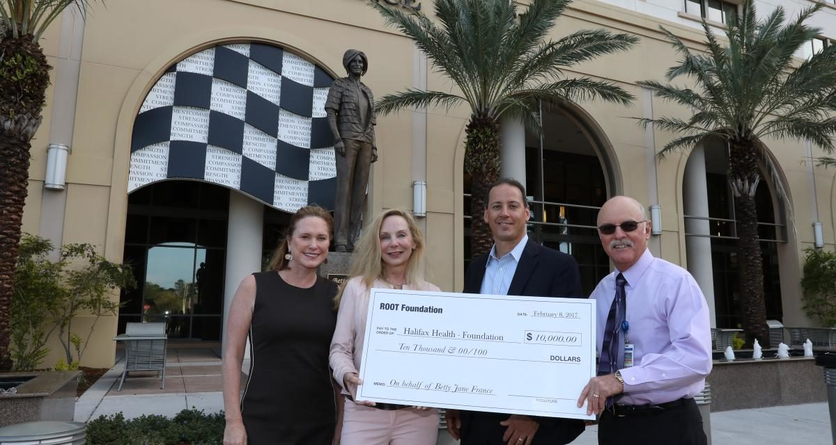 Halifax Health – Foundation Receives Donation from Root Foundation