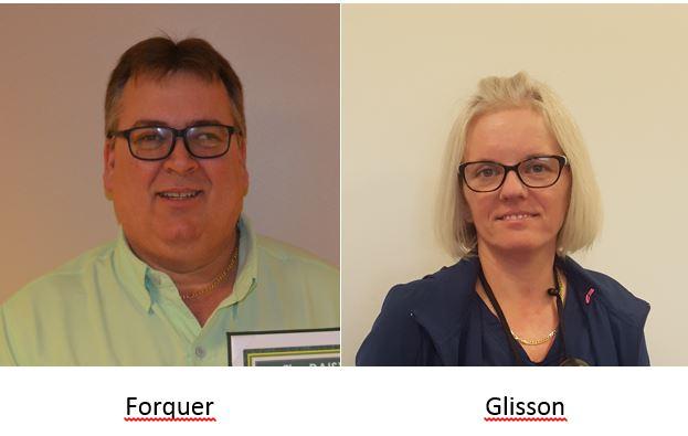 Picture of Richard Forquer and Monika Glisson, Halifax Health's November 2017 DAISY Award recipients