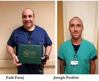 Picture of Fadi Faraj and Joseph Ferlitto, DAISY Award Winners