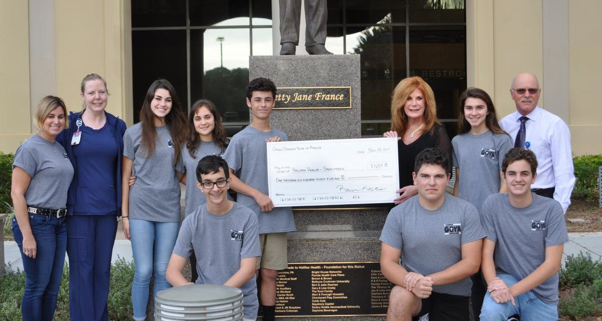Picture of Greek Orthodox Youth of America presenting donation check to Halifax Health-Foundation