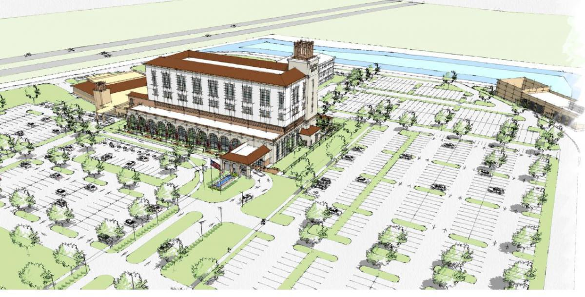 Picture of rendering for the Halifax Health UF Heath Medical Center of Deltona