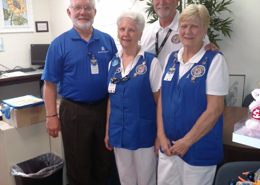 Helen Newton and three other Auxiliary Members