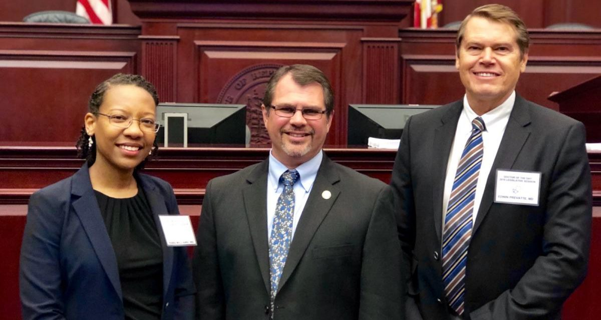 Dr. Williams, Rep. Thomas Leek and Dr. Prevatte.