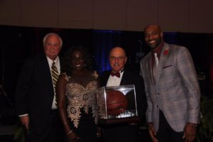 Joe Petrock with Michelle Carter-Scott and Vince Carter