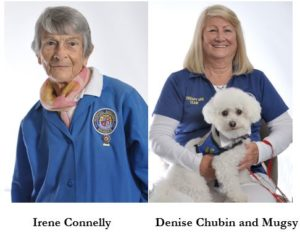 Irene Connelly and Denise Chubin and her dog Mugsy