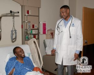 Grant Hill meeting with patient