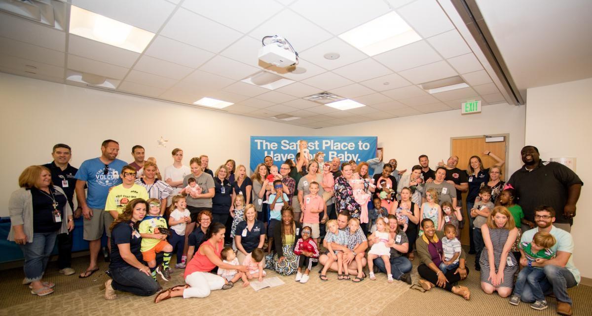 Group Photo of the Halifax Health, Neonatal ICU Reunion