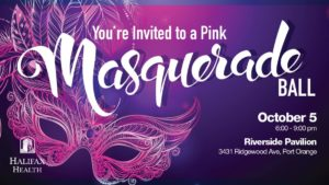 Logo Halifax Health Pink Masquerade Ball Invite