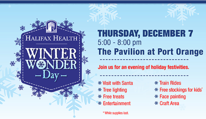 Halifax Health Winter Wonder Day 2018