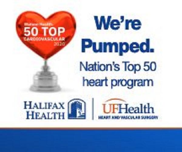 Photo of logo of Halifax Health UF Health Heart & Vascular Surgery Nation's Top 50 heart program