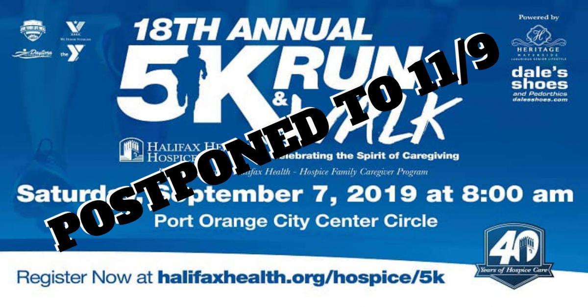 Poster of Halifax Health – Hospice Re-Schedules 5K Due to Hurricane Dorian