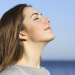 image of woman feeling calm