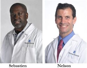 Headshots of East Coast Bariatrics at Halifax Health Physicians, Dr. Sebastien and Dr. Nelson