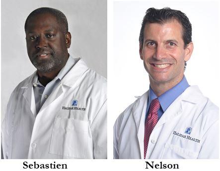 Headshots of East Coast Bariatrics at Halifax Health Physicians, Dr. Sebastien and Dr. Nelson