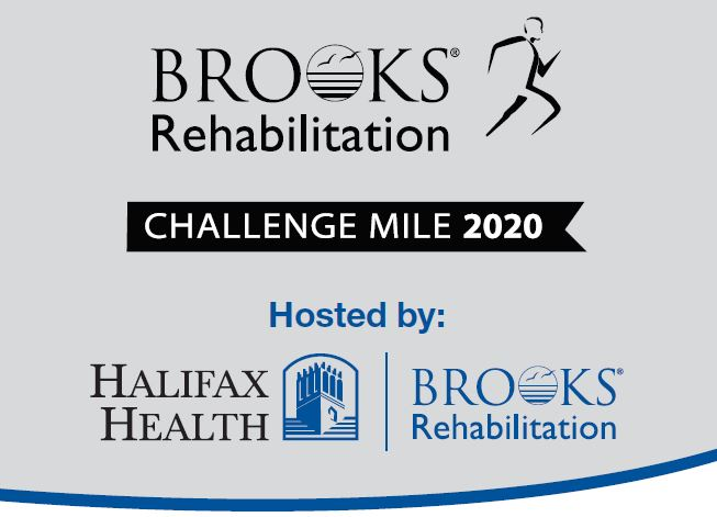 Picture of Brooks Rehabilitation logo Challenge Mile 2020 Hosted by Halifax Health and Brooks Rehabilitation