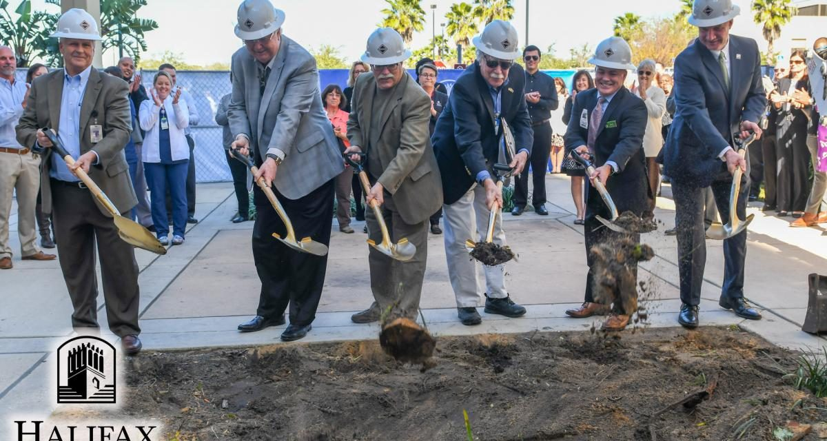 Photo of ground breaking ceremony at Halifax Health new Publix pharmacy site
