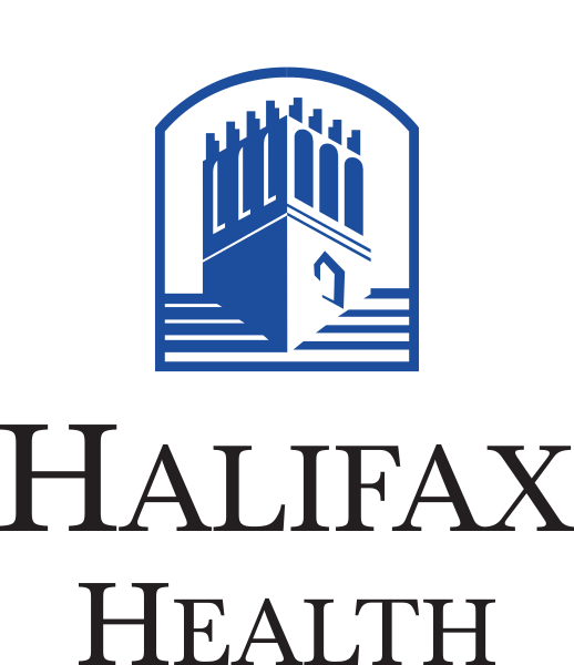 Halifax Health Logo with Belvedere Tower on Top of the name.