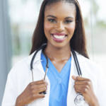 Photo of Female Medical Professional with Stethoscope around neck