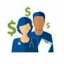 image of nurses with dollar signs