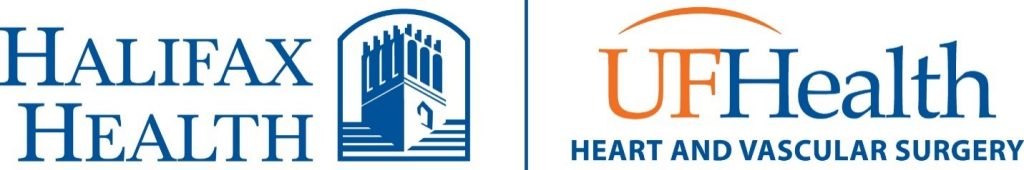 Image of the Halifax Health - UF Health Heart and Vascular Surgery Logo