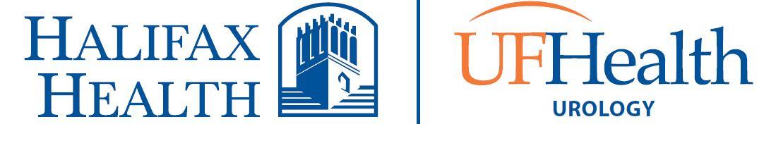 Halifax Health at UF Health Urology Logo