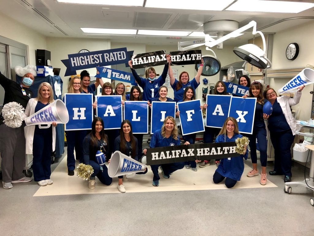 Photo of Halifax Health Team Members celebrating Halifax Health week