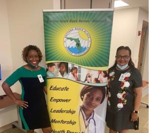 Photo of two members of the Daytona Beach Black Nurses Association