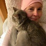 Jennifer and her sweet cat.